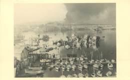 PHOTO DU SABORDAGE DE LA FLOTTE A TOULON 1942 / CATASTROPHE / MARINE MILITAIRE - Guerre