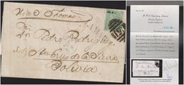 O) 1870 BOLIVIA, OVERLOAD FROM SANTA CRUZ DE LA SIERRA, TAKEN IN MAOS TO ST THOMAS, WHERE IT WAS PAST, RECEIVES - Bolivia