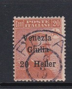 Venezia Giulia N32 1918 Italian Stamps Overprinted 20h On 20c Brown Orange  Used - 8. WW I Occupation
