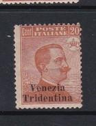 Venezia Giulia N56 1918 Italian Stamps Overprinted 20c Brown Orange  Mint Hinged - 8. WW I Occupation