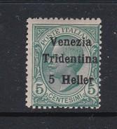 Venezia Giulia N61 1918 Italian Stamps Overprinted 5h On 5c Green  Mint Hinged - 8. WW I Occupation