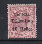 Venezia Giulia N62 1918 Italian Stamps Overprinted 10h On 10c Claret  Mint Hinged - 8. WW I Occupation