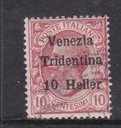 Venezia Giulia N62 1918 Italian Stamps Overprinted 10h On 10c Claret  Used - 8. WW I Occupation