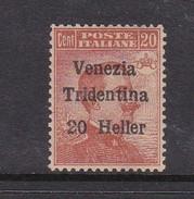 Venezia Giulia N63 1918 Italian Stamps Overprinted 20h On 20c Brown Orange Mint Hinged - 8. WW I Occupation