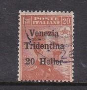 Venezia Giulia N63 1918 Italian Stamps Overprinted 20h On 20c Brown Orange Used - 8. WW I Occupation