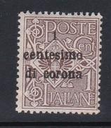 Venezia Giulia N64 1919 Italian Stamps Overprinted 1c On 1c Brown  Mint Hinged - 8. WW I Occupation