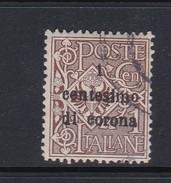 Venezia Giulia N64 1919 Italian Stamps Overprinted 1c On 1c Brown Used - 8. WW I Occupation