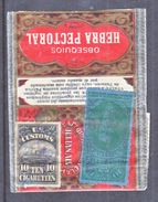 U.S.  CUSTOMS CIGARETTES W/ SERIES  1901 CIGARETTES  REV.  ON PIECE - Revenues