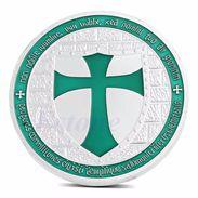 Knights Templar Green  Cross / Masonic Coin .999 Silver - Tokens & Medals