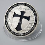 Knights Templar Black Cross / Masonic Coin .999 Silver - Tokens & Medals