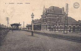 17/7 Couillet Centre Charleroi  Hainaut Gare Station Reproduction - Gares - Sans Trains
