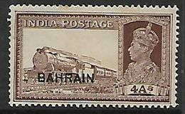 Bahrain, Opt On India, 1941 George VI, 4 Annas, MH * - Bahrain (...-1965)