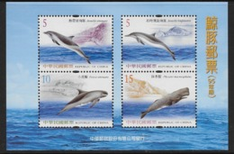 2006 Taiwan - Dolphins And Whales (cetacean) - Souvenir Sheet With 4 Stamps ** - Maritiem Leven