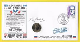 Monnaie De Paris - Mémorial Général De Gaulle Année 1990 - Zonder Classificatie
