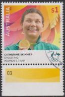 AUSTRALIA - USED 2016 $1.00 Olympic Games Gold Medal Winners - Catherine Skinner - Women's Trap Shooting - 2010-... Elizabeth II