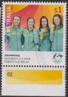 AUSTRALIA - USED 2016 $1.00 Olympic Games Gold Medal Winners - Swimming: Women's 4x100m Freestyle - 2010-... Elizabeth II