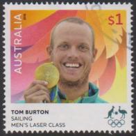 AUSTRALIA - USED 2016 $1.00 Olympic Games Gold Medal Winners - Sailing: Tom Burton - Men's Laser Class - 2010-... Elizabeth II