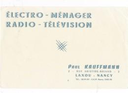 AC - B2686 Et B2687- Radio Television Paul Kauffmann Laxou ( Non Utilisé) - Buvards, Protège-cahiers Illustrés