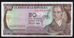 550-Colombie Billet De 50 Pesos Oro 1974 - 244 - Colombie