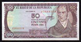 550-Colombie Billet De 50 Pesos Oro 1981 - 036 - Colombie