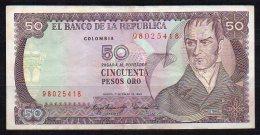 550-Colombie Billet De 50 Pesos Oro 1983 - 980 - Colombie