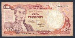 506-Colombie Billet De 100 Pesos Oro 1983 - 780 - Colombie