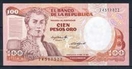 492-Colombie Billet De 100 Pesos Oro 1984 - 745 Neuf - Colombie