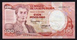 550-Colombie Billet De 100 Pesos Oro 1985 - 968 - Colombie