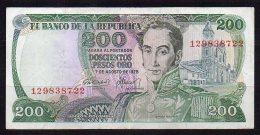 550-Colombie Billet De 200 Pesos Oro 1975 - 129 - Colombie