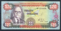 493-Jamaïque Billet De 20 Dollars 1983 UF024 - Jamaica