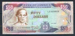 493-Jamaïque Billet De 50 Dollars 2007 LE009 - Jamaique