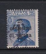 Venezia Giulia N69 1919 Italian Stamps Overprinted 25c On 25c Blue  Used - 8. WW I Occupation