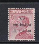 Venezia Giulia N73 1919 Italian Stamps Overprinted 60c On 60c Brown Carmine Mint Hinged - 8. WW I Occupation