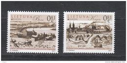 Lietuva Litauen 2017 MNH ** Mi. Nr.  1250-51 Litauen Europe Stamps Set Castle - Lithuania