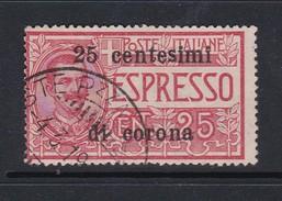 Venezia Giulia NE2 1919 Italian Stamps Overprinted 25c On 25c Rose Used - 8. WW I Occupation