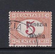 Venezia Giulia NJ1 1918 Italian Stamps Overprinted Postage Due 5c Orange And Carmine Used - 8. WW I Occupation