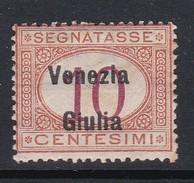 Venezia Giulia NJ2 1918 Italian Stamps Overprinted Postage Due 10c Orange And Carmine Mint Hinged - 8. WW I Occupation