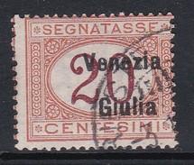 Venezia Giulia NJ3 1918 Italian Stamps Overprinted Postage Due 20c Orange And Carmine Used - 8. WW I Occupation