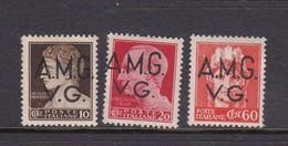 Venezia Giulia And Istria  A.M.G.V.G. 1945 S 8-10 1945 Definitives  Mint Hinged - Trieste