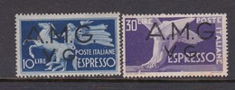 Venezia Giulia And Istria  A.M.G.V.G. 1946 Espressi S 1-2 Mint Hinged - 7. Trieste