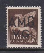 Venezia Giulia And Istria  A.M.G.V.G. Air Mail A 1 1945 Air Post 50c Brown Mint Hinged - Trieste