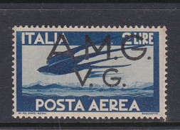 Venezia Giulia And Istria  A.M.G.V.G. Air Mail A 3 1945 Air Post 2 Lira Blue Mint Never Hinged - 7. Trieste