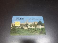 ANCIENNE CARTE A PUCE CEV / CARTAPLUS VILLE : UZES B.E !!! - France