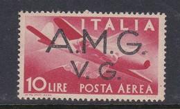 Venezia Giulia And Istria  A.M.G.V.G. Air Mail A 5 1945 Air Post10 Lira Red Mint Never Hinged - 7. Trieste