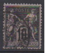 FRANCE      N° YVERT  :    89     ( 3 )    OBLITERE - 1876-1898 Sage (Type II)