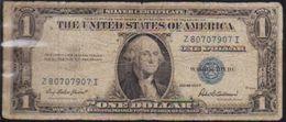 USD 1935F SILVER CERTIFICATE. LN A WELL CIRCULATED GRADE.. - Certificati D'Argento (1928-1957)