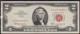 USD 1963 RED SEAL $2. UNITED STATES NOTE. LN A CRISP HIGH GRADE.. - Small Size -Taglia Piccola (1928-...)