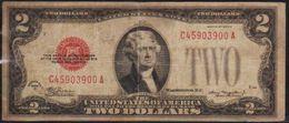 USD 1928D RED SEAL $2. UNITED STATES NOTE. LN A COLLECTIBLE GRADE.. - Small Size -Taglia Piccola (1928-...)