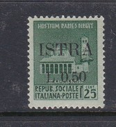 Venezia Giulia And Istria  S 23 1945 50c On 25c Green Mint Hinged - Occ. Yougoslave: Istria