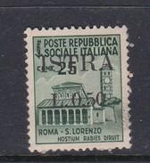 Venezia Giulia And Istria  S 24 1945 50c On 25c Green Mint Hinged - Occ. Yougoslave: Istria